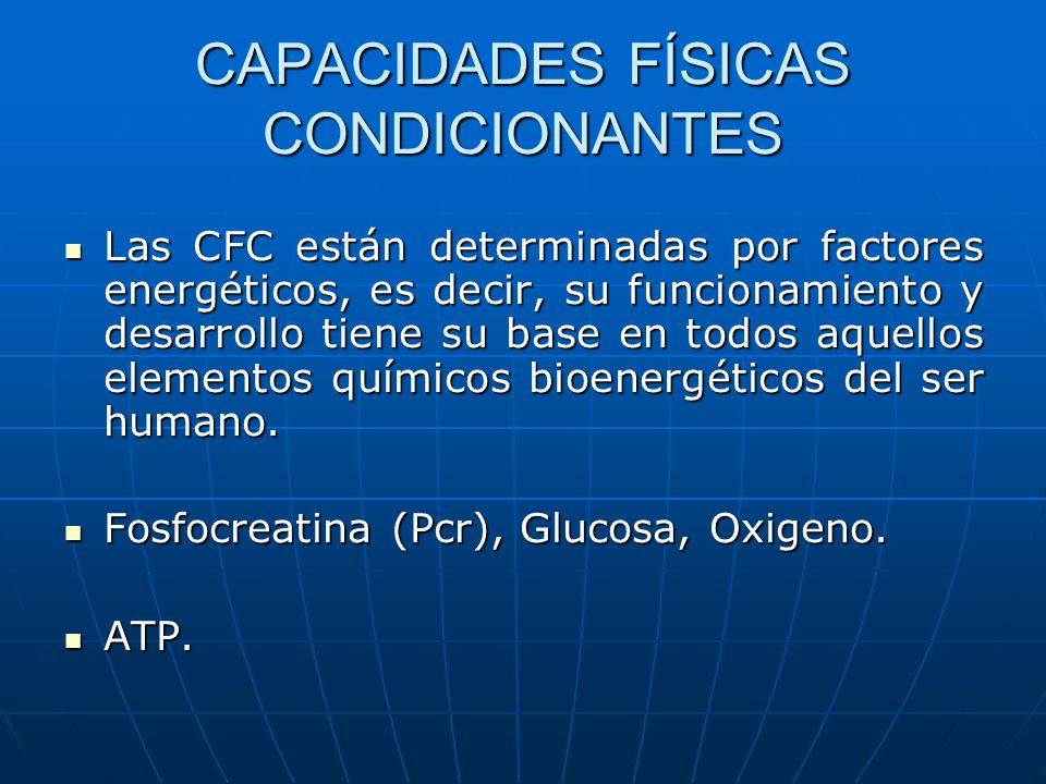 CAPACIDADES FÍSICAS CONDICIONANTES