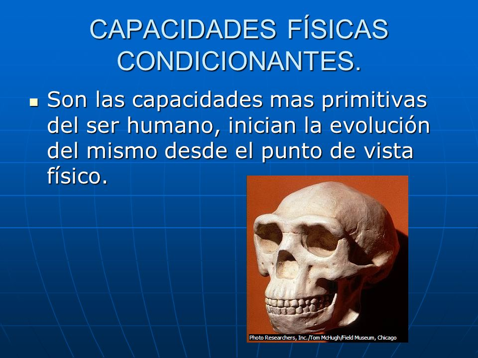 CAPACIDADES FÍSICAS CONDICIONANTES.