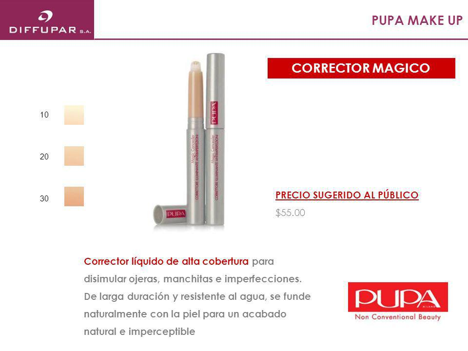 PUPA MAKE UP CORRECTOR MAGICO PRECIO SUGERIDO AL PÚBLICO $55.00