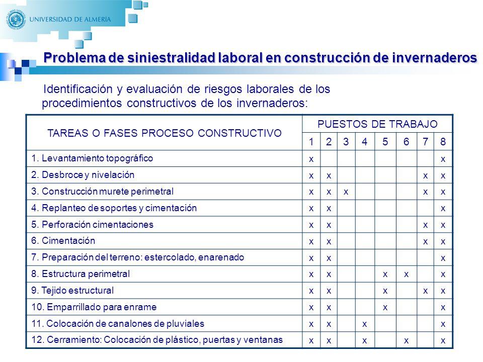 Problema de siniestralidad laboral en construcción de invernaderos