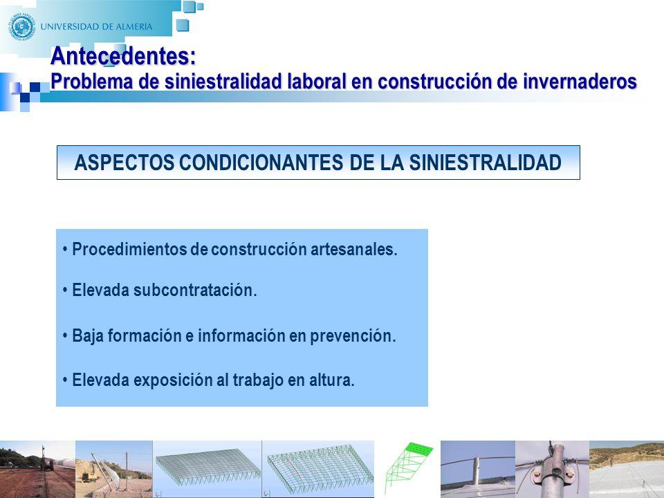 ASPECTOS CONDICIONANTES DE LA SINIESTRALIDAD