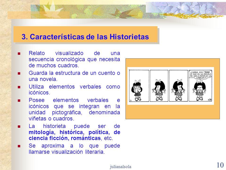 3. Características de las Historietas