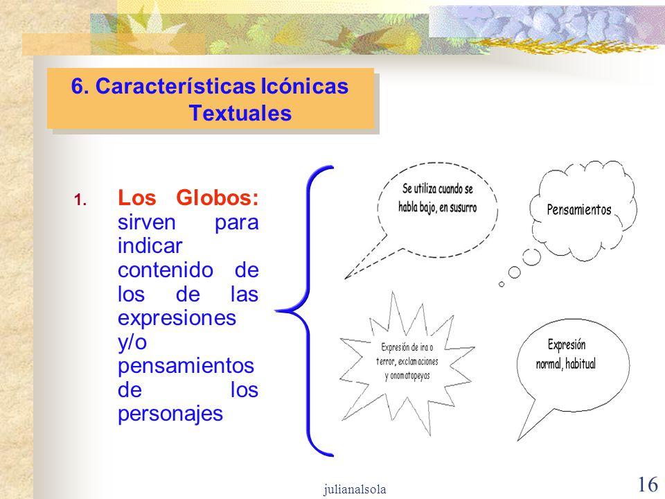 6. Características Icónicas Textuales