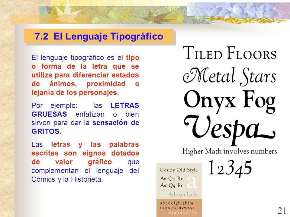 7.2 El Lenguaje Tipográfico