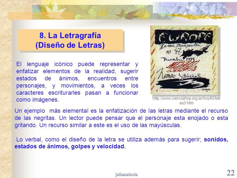 8. La Letragrafía (Diseño de Letras)
