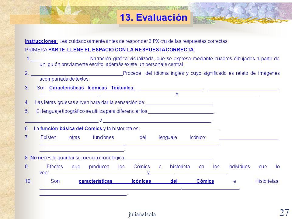 13. Evaluación julianalsola