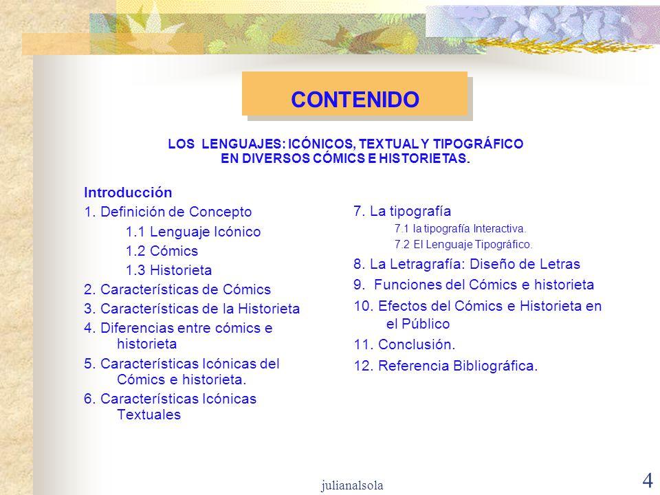 CONTENIDO Introducción 1. Definición de Concepto 1.1 Lenguaje Icónico