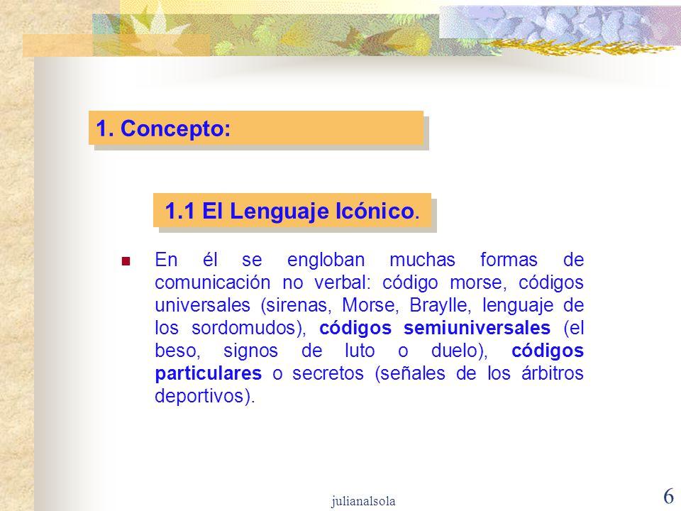 1. Concepto: 1.1 El Lenguaje Icónico.