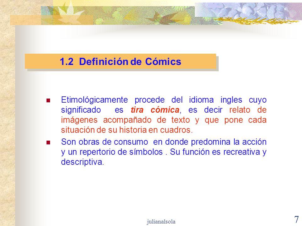 1.2 Definición de Cómics