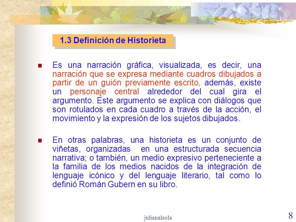 1.3 Definición de Historieta