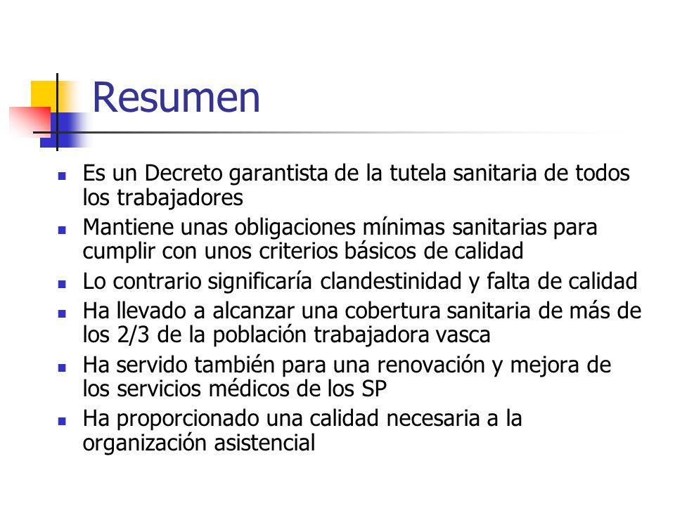 Resumen Es un Decreto garantista de la tutela sanitaria de todos los trabajadores.