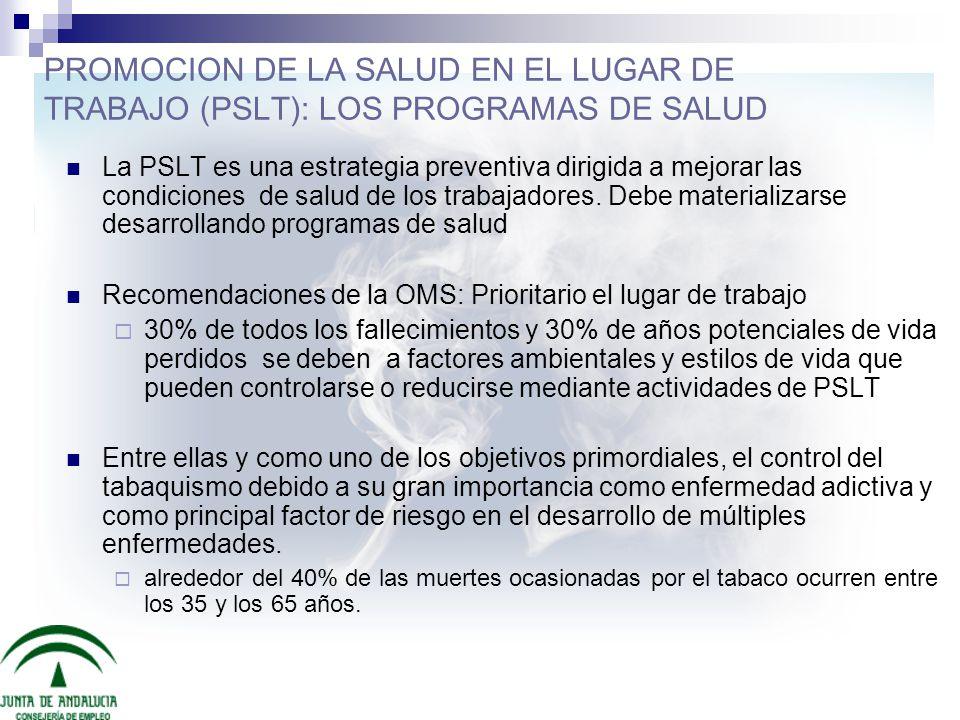 PROMOCION DE LA SALUD EN EL LUGAR DE TRABAJO (PSLT): LOS PROGRAMAS DE SALUD