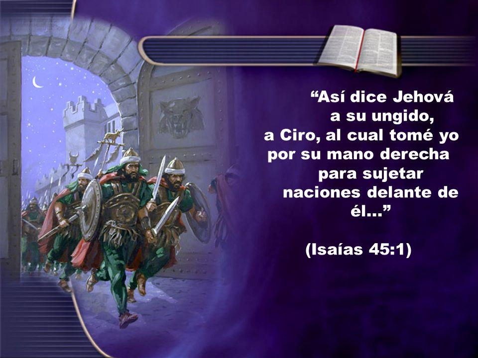 Así dice Jehová a su ungido,