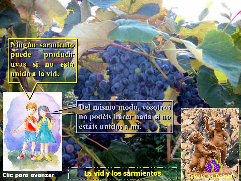 Ningún sarmiento puede producir uvas si no está unido a la vid.