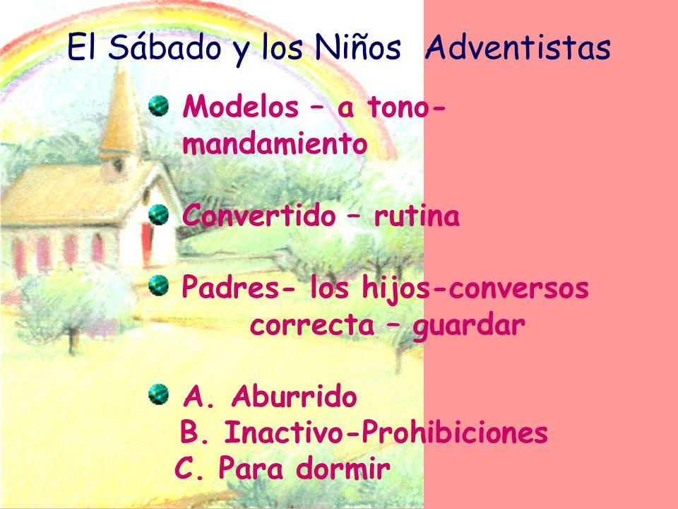 El Sábado y los Niños Adventistas