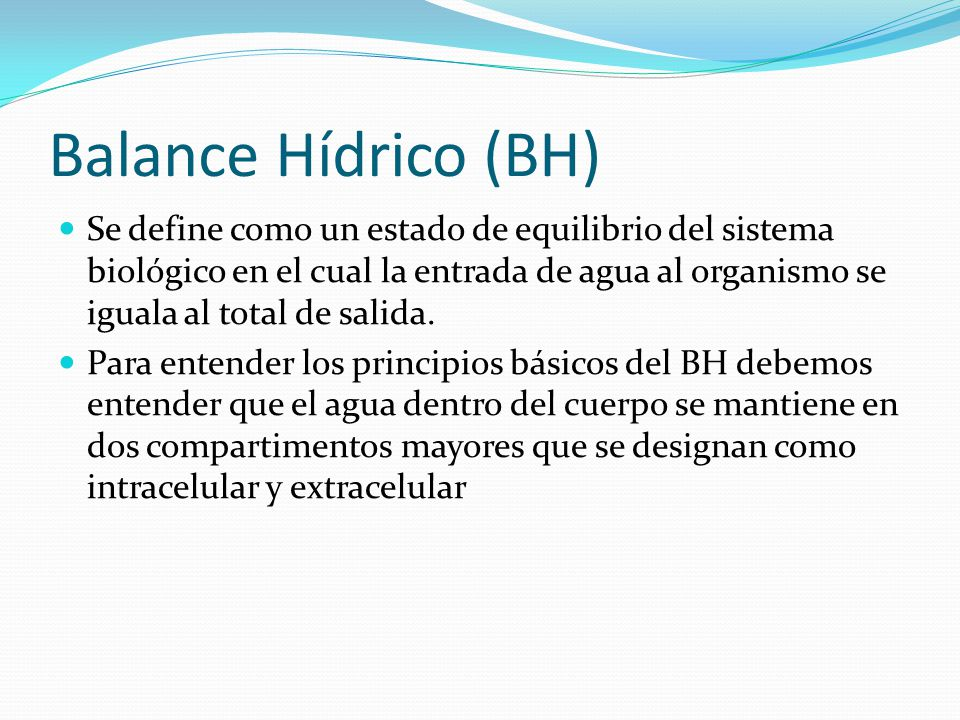 Balance Hídrico (BH)