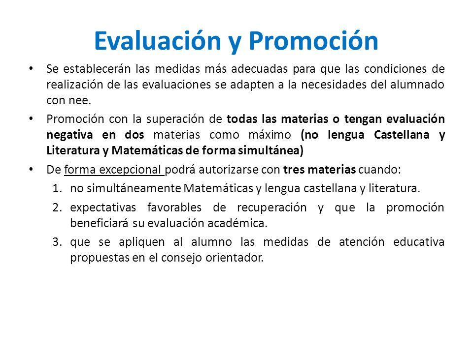 Evaluación y Promoción