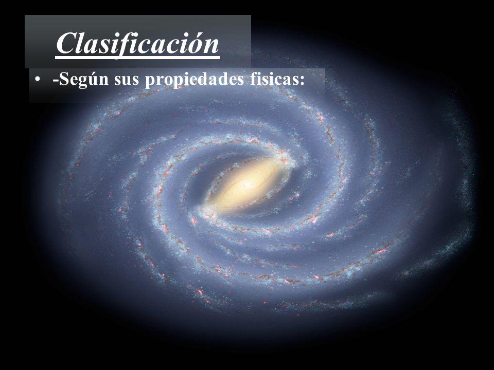 Clasificación -Según sus propiedades fisicas: