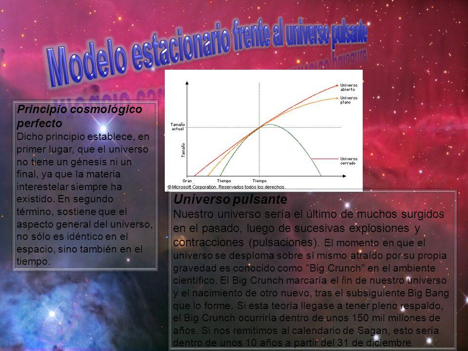 Modelo estacionario frente al universo pulsante