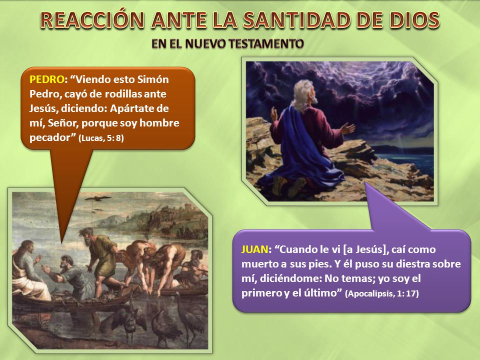 REACCIÓN ANTE LA SANTIDAD DE DIOS