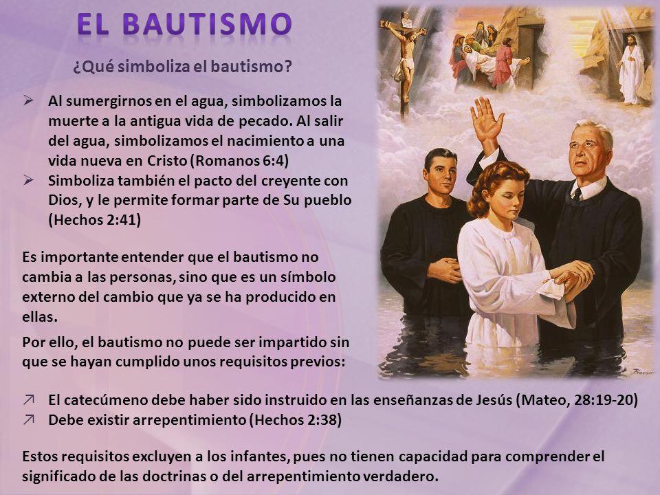 ¿Qué simboliza el bautismo