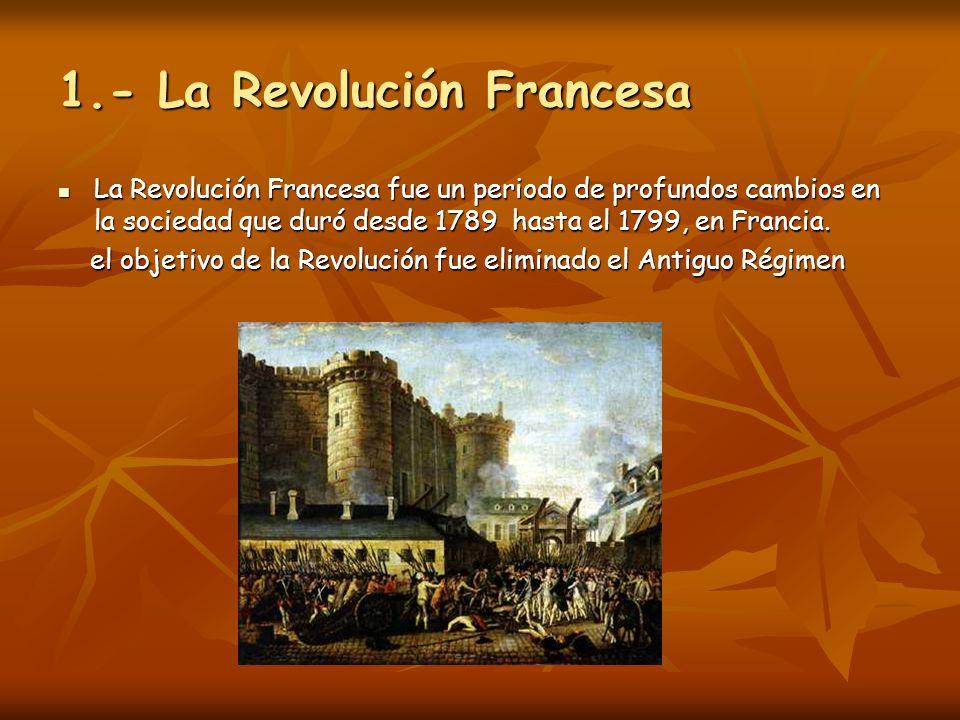 1.- La Revolución Francesa