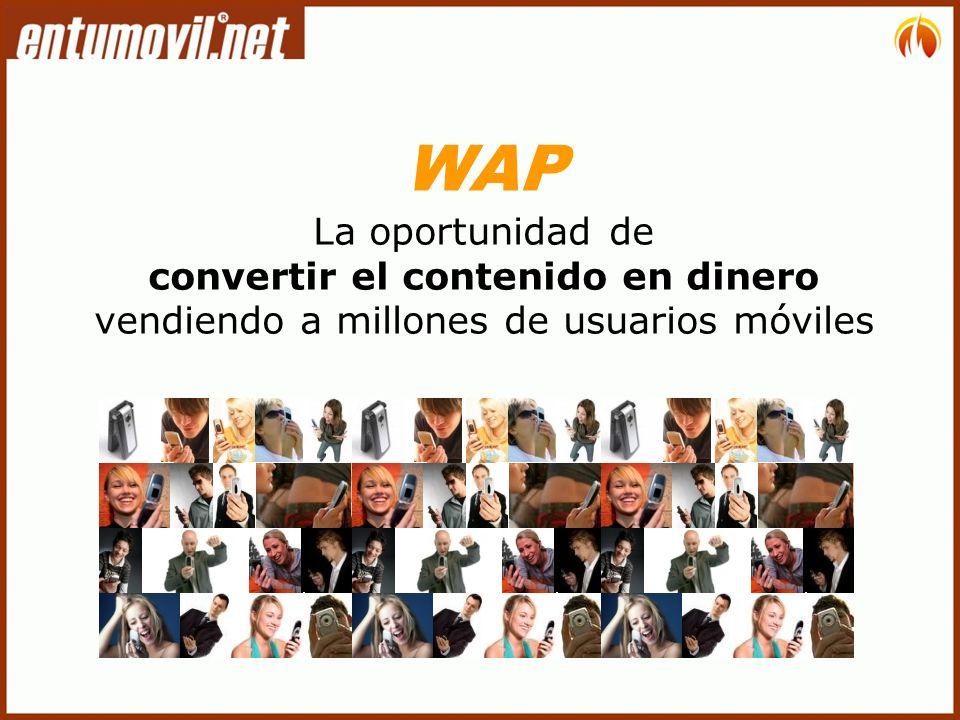 WAP La oportunidad de convertir el contenido en dinero