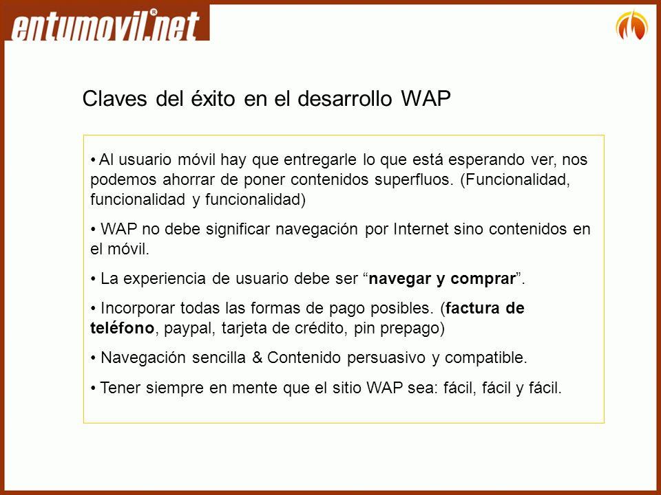 Claves del éxito en el desarrollo WAP