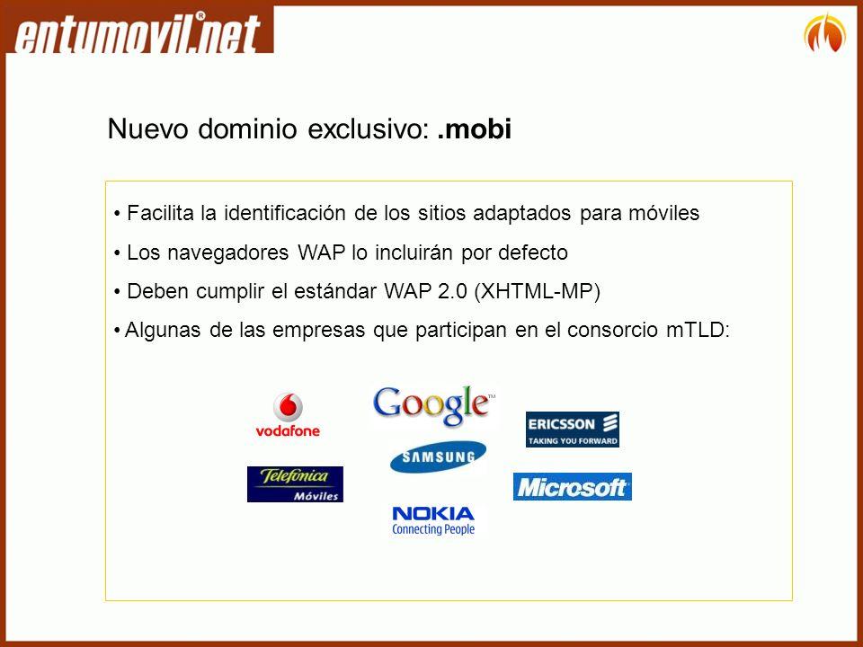 Nuevo dominio exclusivo: .mobi