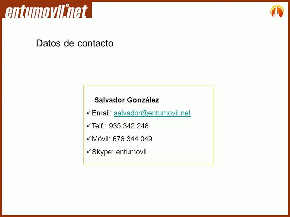 Datos de contacto Salvador González