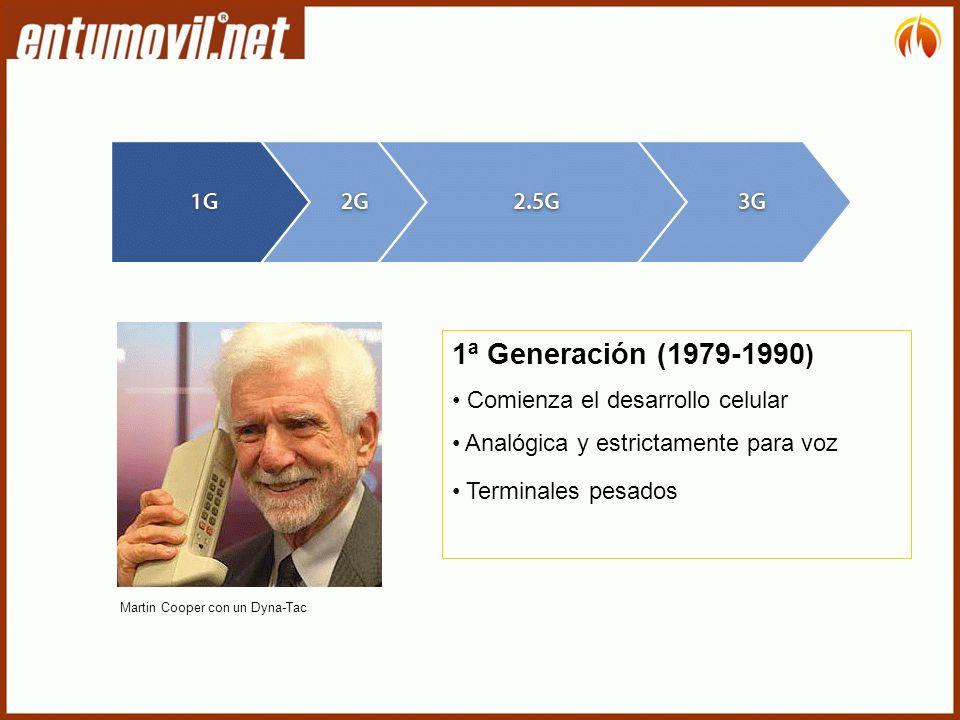 1ª Generación (1979-1990) Comienza el desarrollo celular