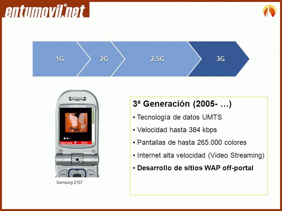 3ª Generación (2005- …) Tecnología de datos UMTS