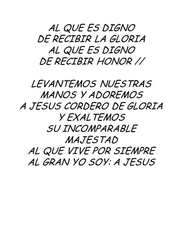 A JESUS CORDERO DE GLORIA