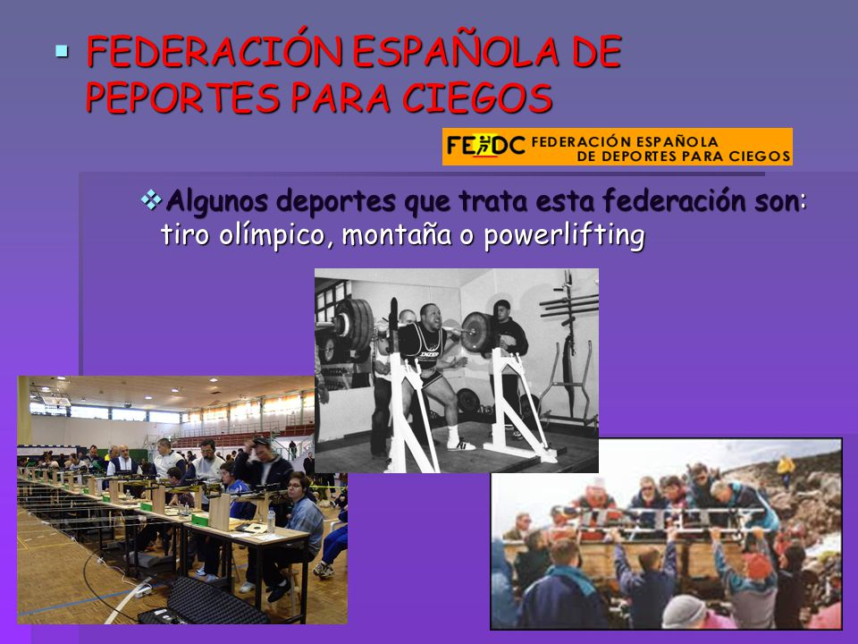 FEDERACIÓN ESPAÑOLA DE PEPORTES PARA CIEGOS