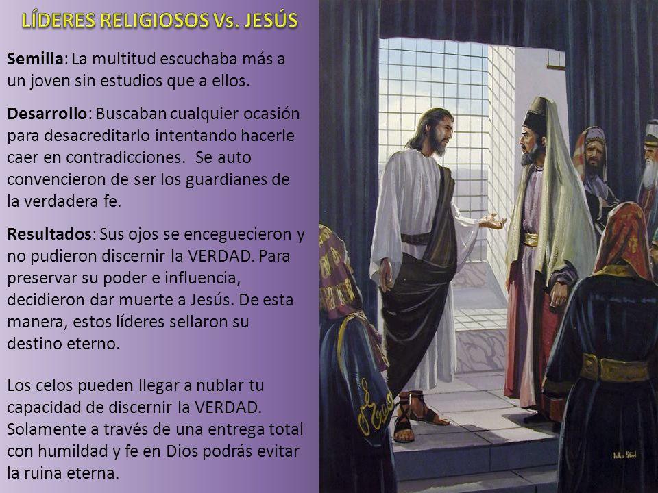 LÍDERES RELIGIOSOS Vs. JESÚS