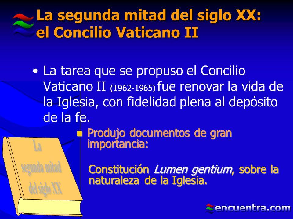 La segunda mitad del siglo XX: el Concilio Vaticano II