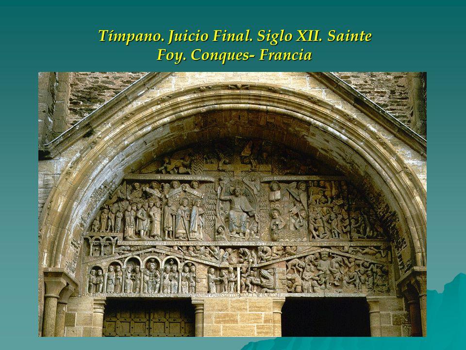Tímpano. Juicio Final. Siglo XII. Sainte Foy. Conques- Francia