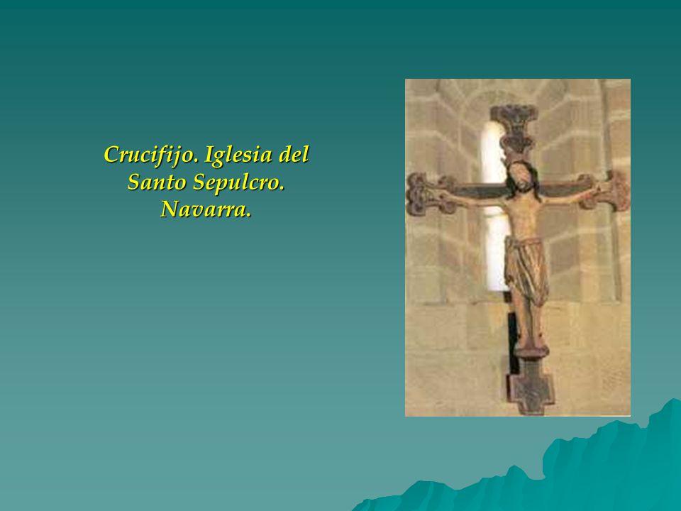 Crucifijo. Iglesia del Santo Sepulcro. Navarra.