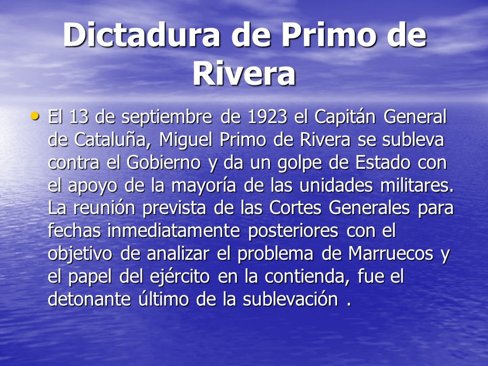 Dictadura de Primo de Rivera