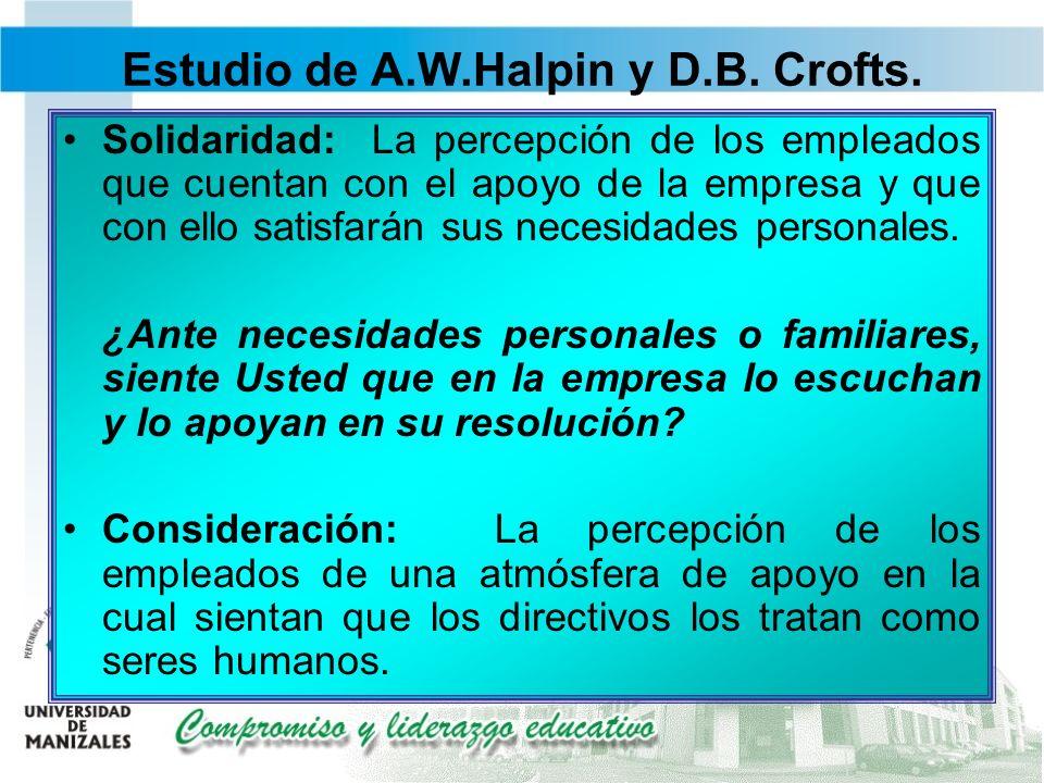 Estudio de A.W.Halpin y D.B. Crofts.