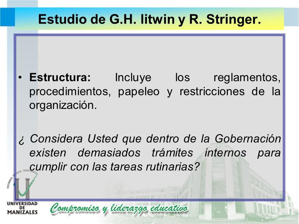 Estudio de G.H. litwin y R. Stringer.