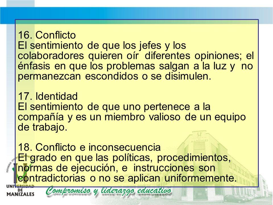 16. Conflicto