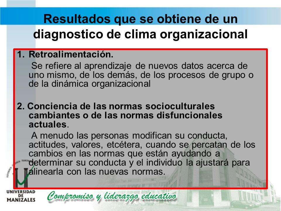 Resultados que se obtiene de un diagnostico de clima organizacional