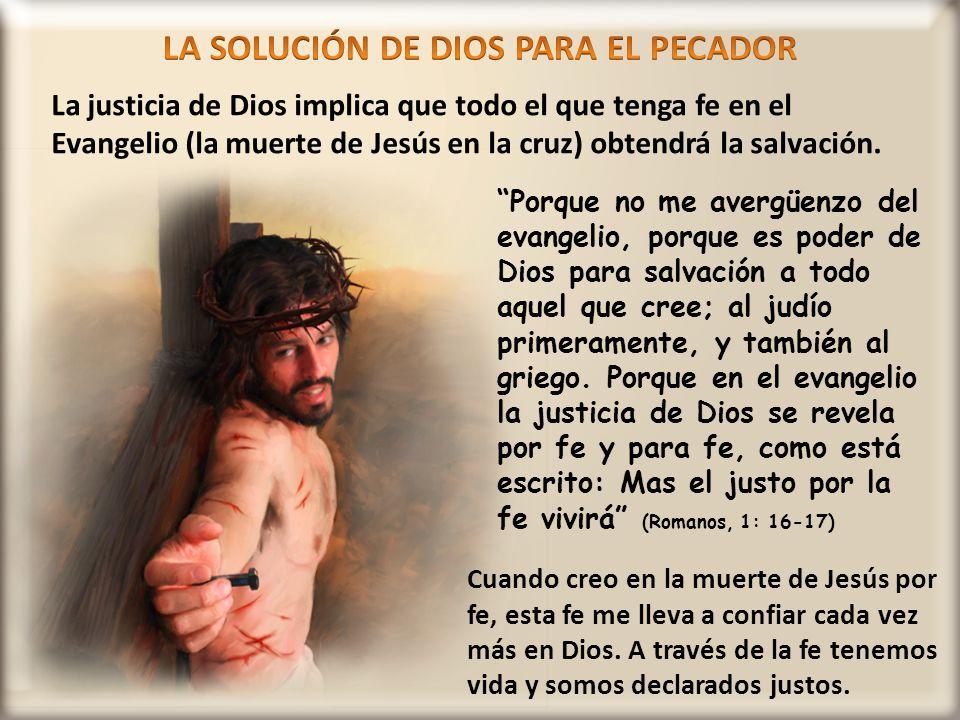 LA SOLUCIÓN DE DIOS PARA EL PECADOR