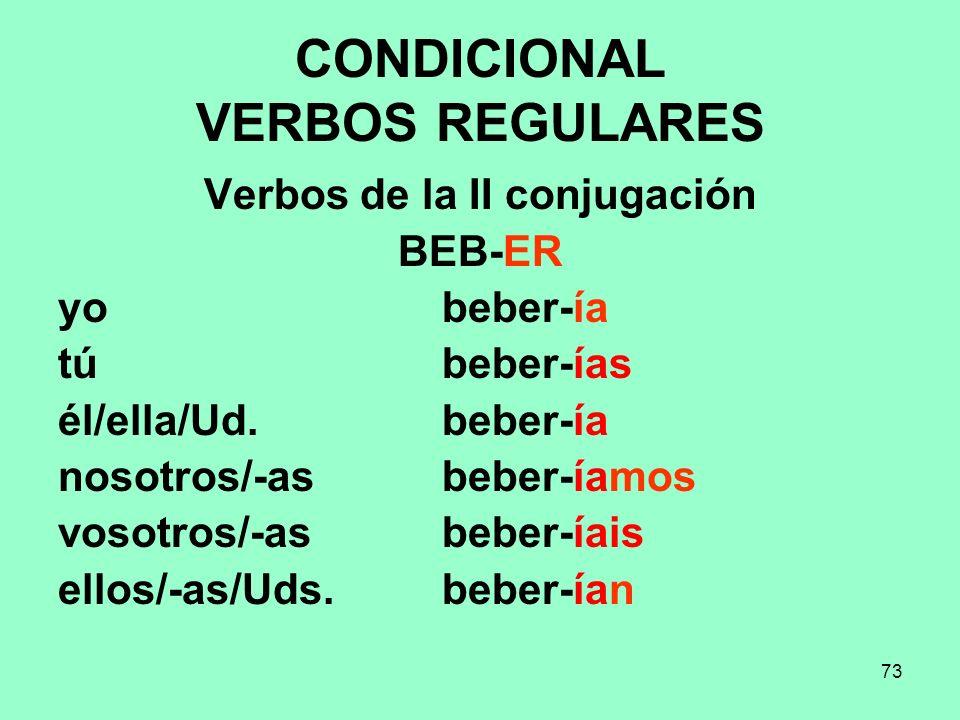 CONDICIONAL VERBOS REGULARES