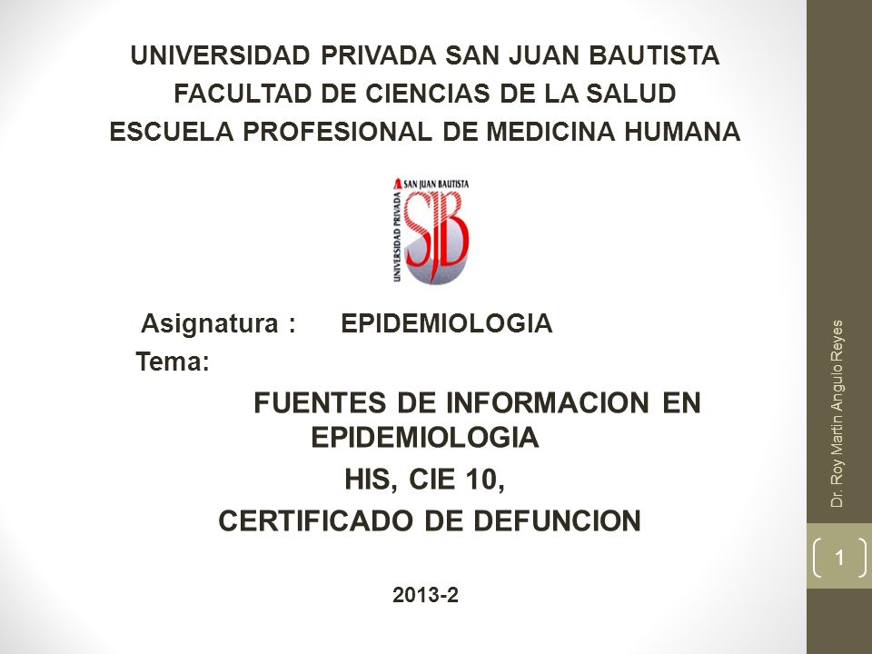 HIS, CIE 10, CERTIFICADO DE DEFUNCION