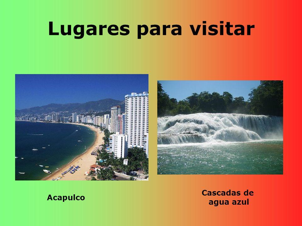 Lugares para visitar Cascadas de agua azul Acapulco