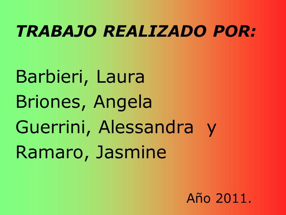 Barbieri, Laura Briones, Angela Guerrini, Alessandra y Ramaro, Jasmine