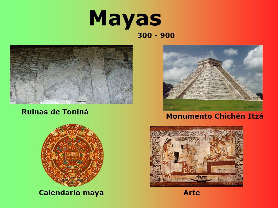Mayas 300 - 900 Ruinas de Toniná Monumento Chichén Itzá
