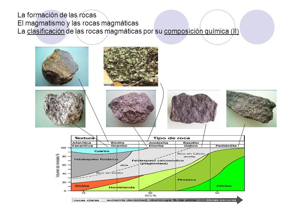 La formación de las rocas El magmatismo y las rocas magmáticas La clasificación de las rocas magmáticas por su composición química (II)